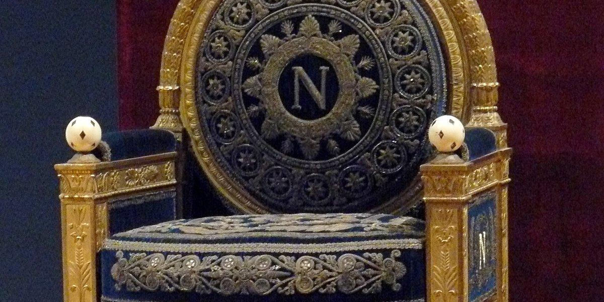 Imperial throne of Napoleon 1st.