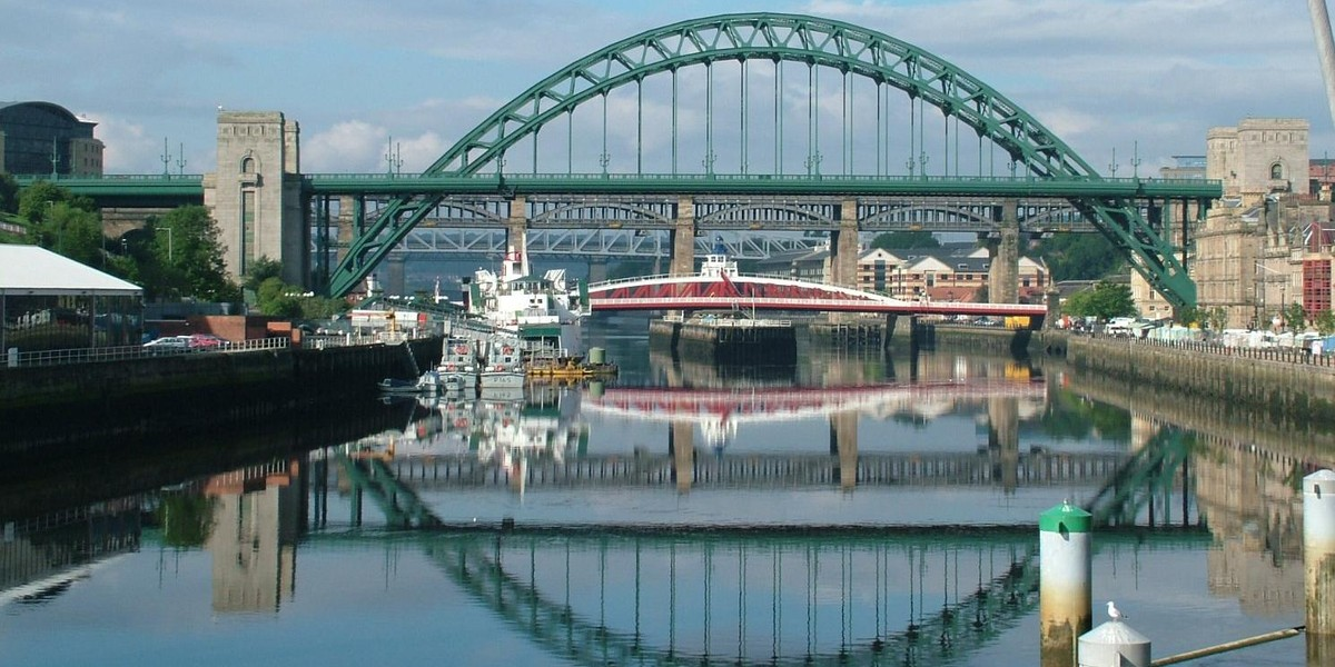 The English city of Newcastle upon Tyne.