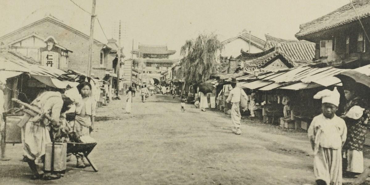 Taedongum Street in 1910 Pyongyang.
