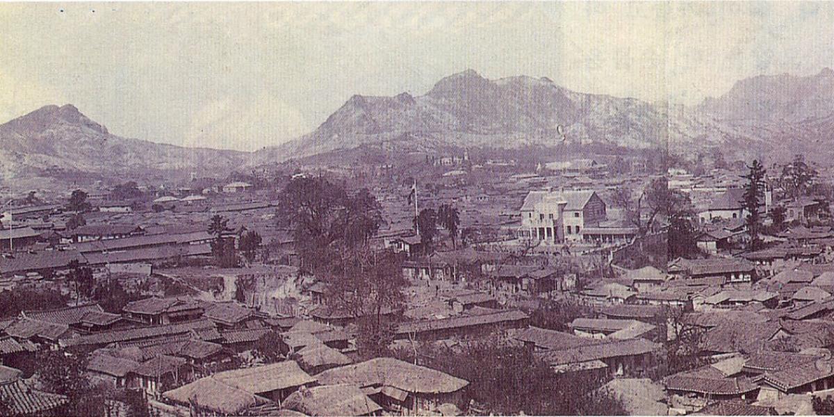 View of Seoul circa 1900.
