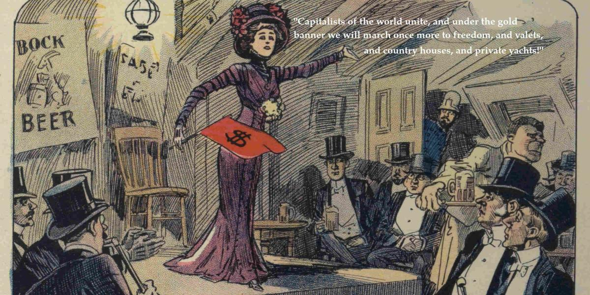 """Comic modified from original by Harry Grant Dart (1909): """"In the coming age of socialism""""."""