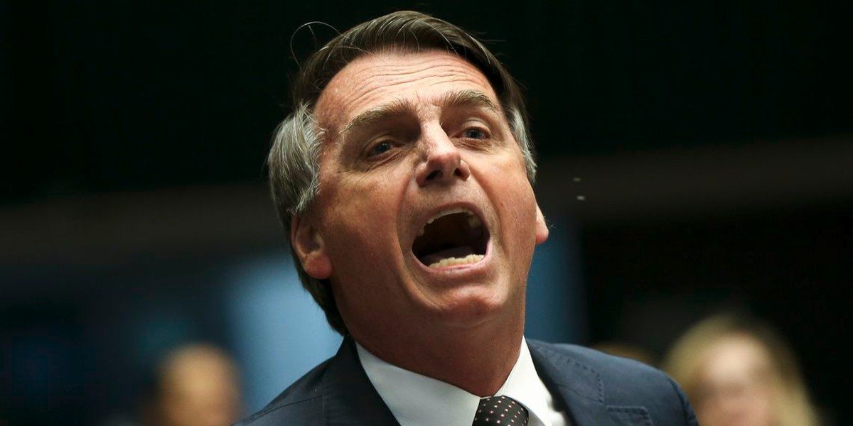 Jair Bolsonaro, Brazilian politican, in debate.