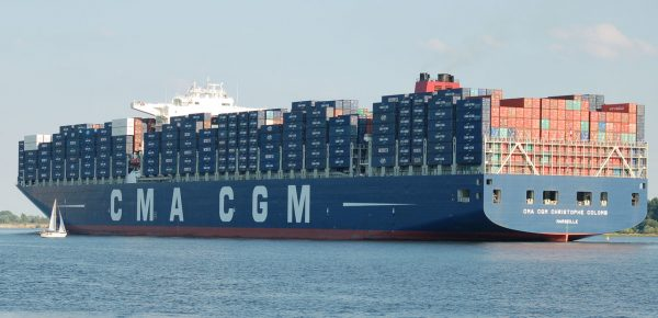 Container ship, CMA CGM Christophe Colomb.