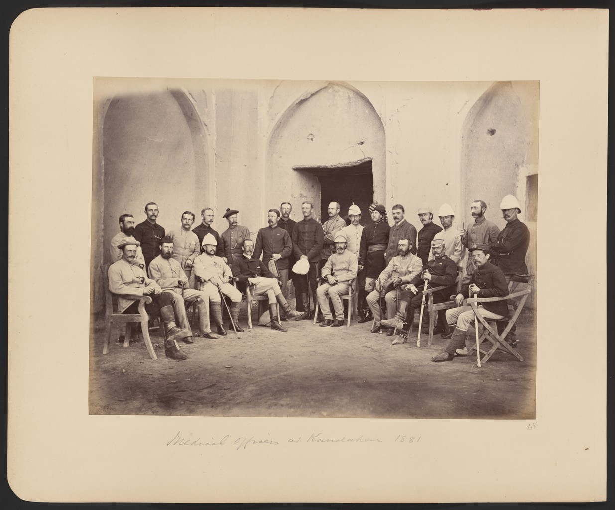 British medical officers of the Southern Afghanistan Field Force in Kandahar, 1881.