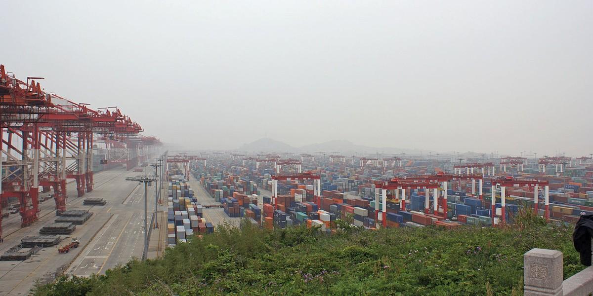 Port of Shanghai in 2013.