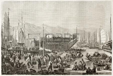 Port of Shanghai in 1860.