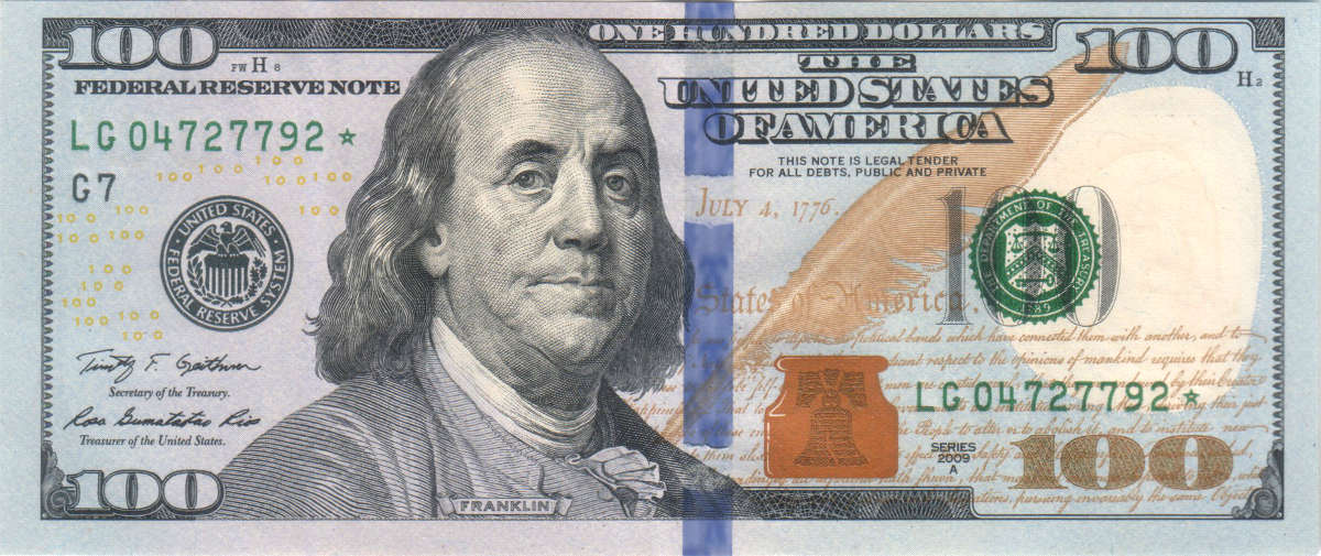 $100 US Federal Reserve Note